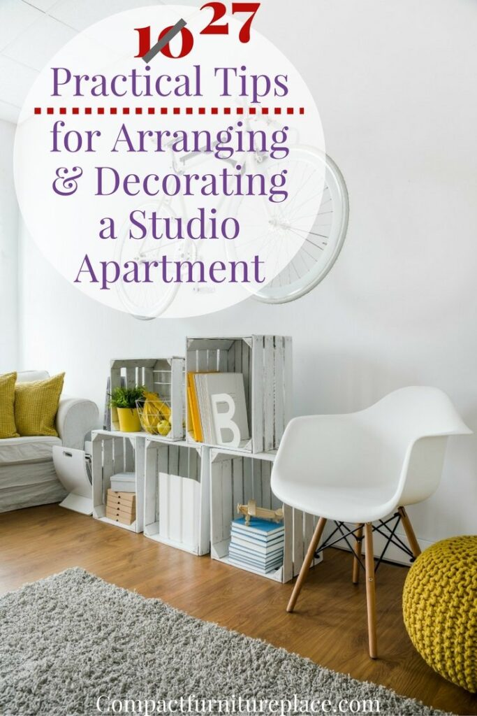 "Figuring out the furniture layout and decor for a studio apartment can be challenging. How do you squeeze everything in? We've put together 10 tips (and 17 ""sub tips"") to help you pull it all together and create a beautiful home from your small space."