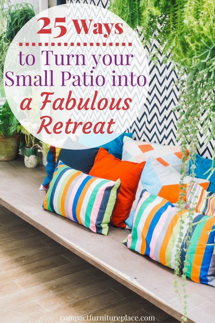 Turn your small patio or apartment balcony into a fabulous retreat with these 25 easy tips. Click over to see tiny outdoor spaces so charming they're like patio porn and get inspired to to give your small patio a makeover.