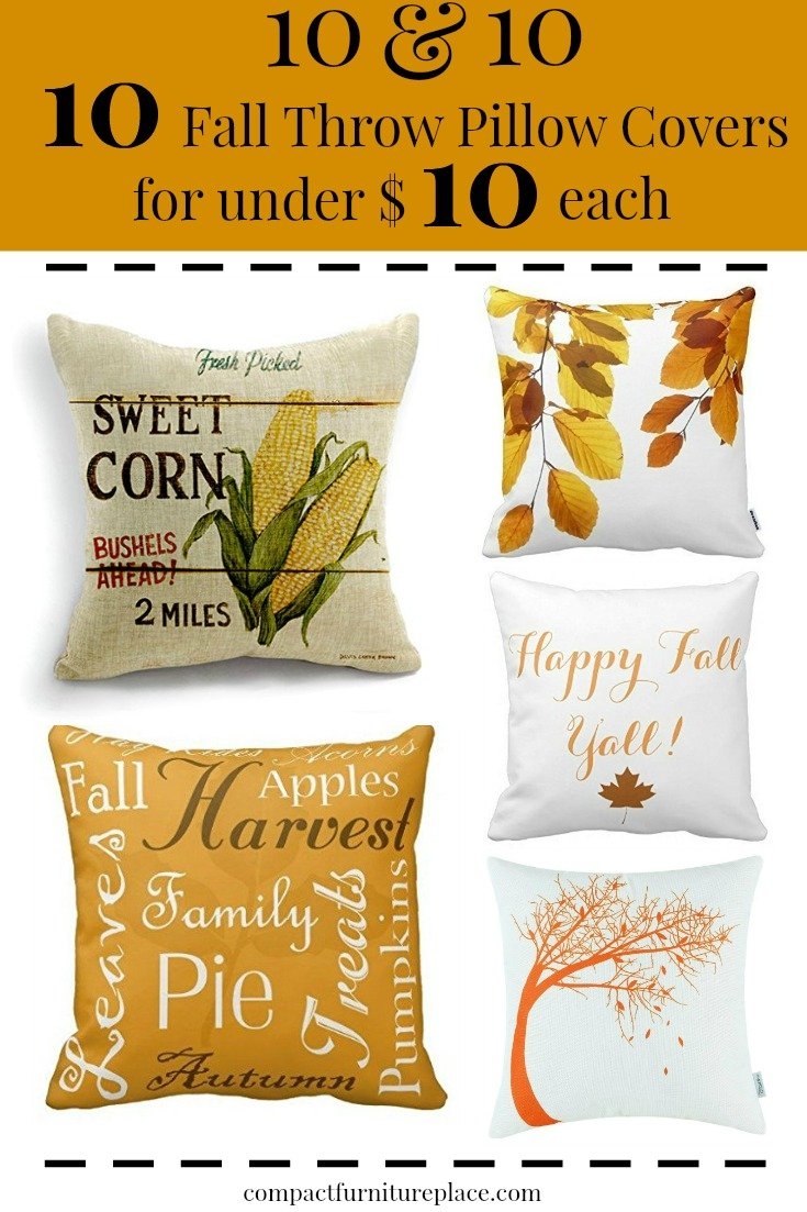 10 Fall Throw Pillow Covers plus a few tips on how to use them to easily give your home a fresh fall look.