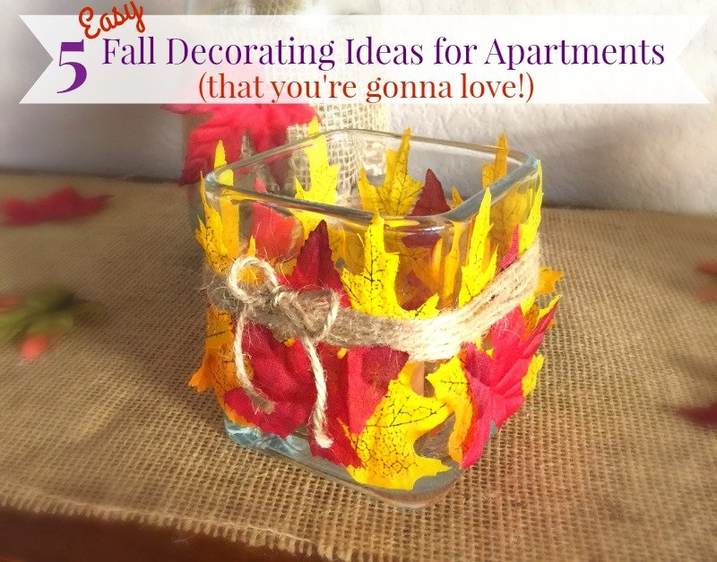5 Easy fall decorating ideas for apartments and other small spaces. You're going to love how simple and cheap these are!