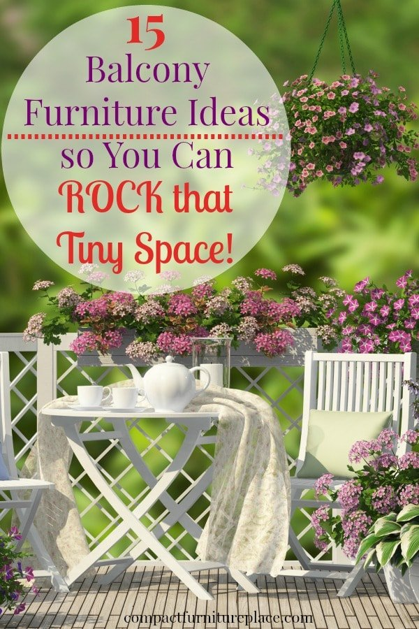 No space is too tiny to rock! Check out these small balcony furniture ideas and turn that teen tiny apartment balcony into a rockin retreat!