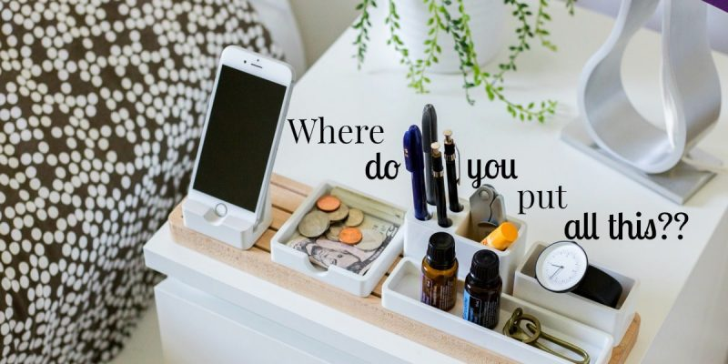 solutions for when there is no room for nightstands