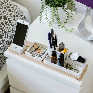 bedside storage when theres no room for nightstands